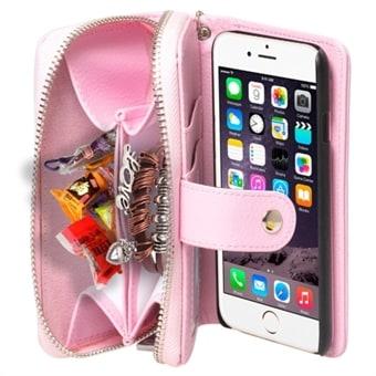 Plånbok fodral med rem iPhone 6 Plus   6S Plus - Rosa - Köp på 24.se 951bdb9132178