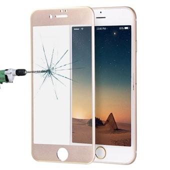 Böjt härdat fullskärmsskydd i glas till iPhone 8   7 - Guld - Köp på 2 978a9d24cc58d