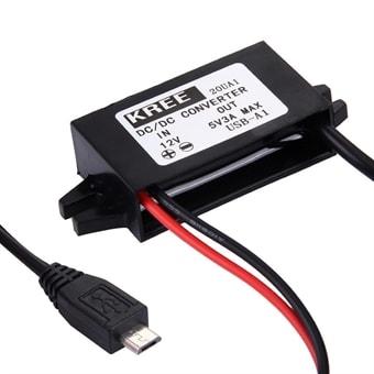 Fast installation av Micro usb laddare till bil