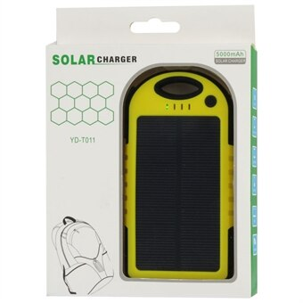 Solcellsladdare 5000mAh iPhone Samsung Galaxy Sony HTC LG K