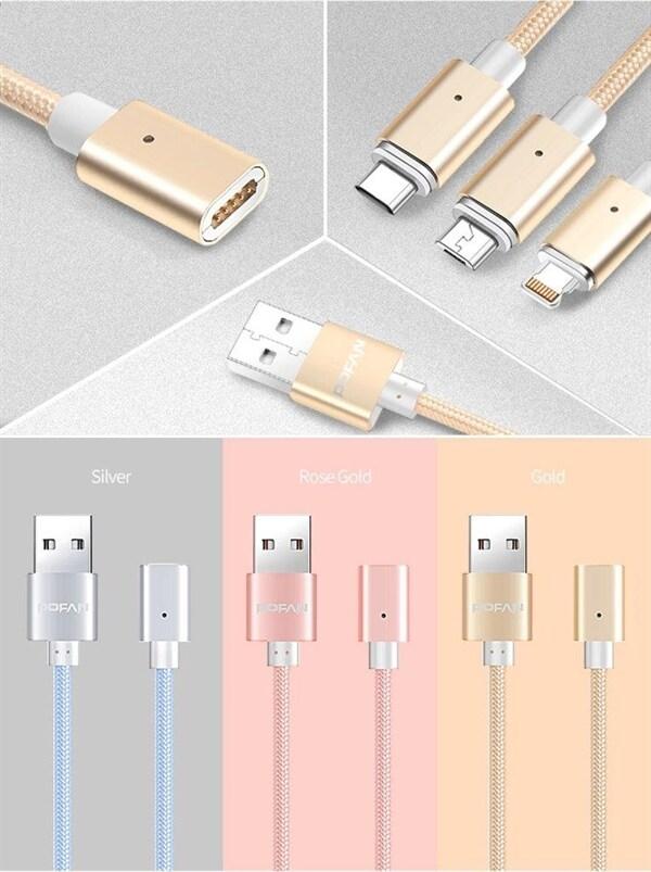 Iphone Laddare i hållfast Metall Rosé