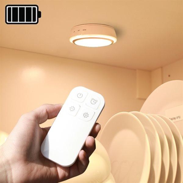 Berömda Batteridriven trådlös led-belysning / lampa med fjärr - Varmvit - Köp YY-74