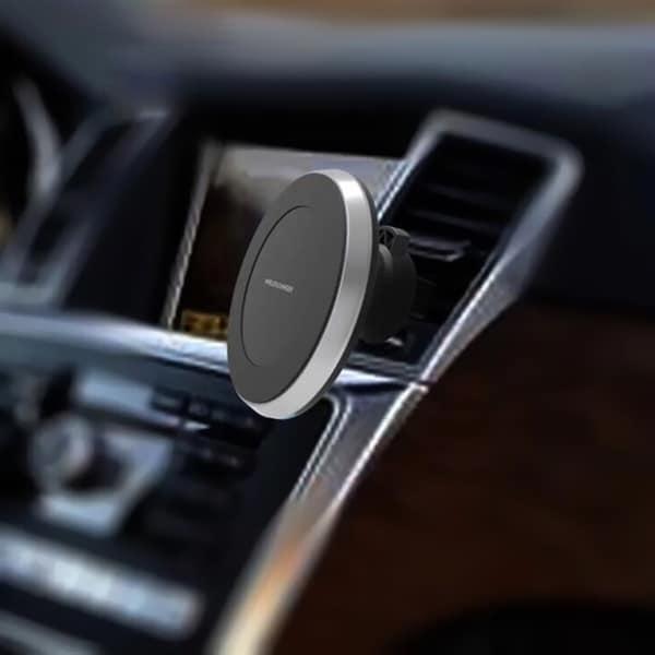 Trådlös laddare Qi laddare + magnetisk mobilhållare för bil