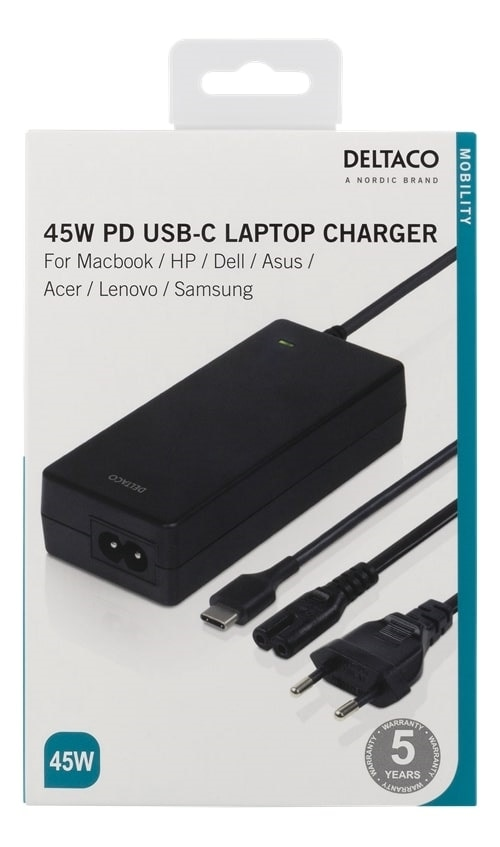 Laptop laddare 45 W USB C Köp på 24.se