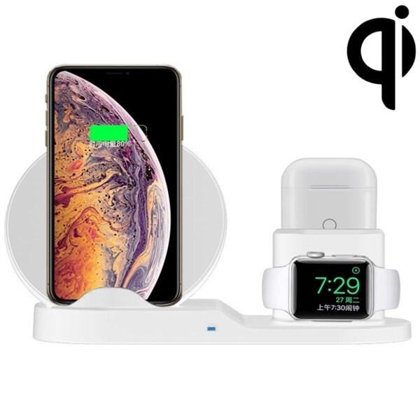 Trådlös Qi Laddare mobiltelefon & hållare för iWatch & AirPods Köp p