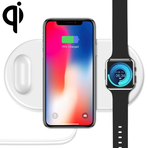 Qi Laddare 10W iPhone, Galaxy, Xiaomi, Google, LG, Apple Watch, AirPod