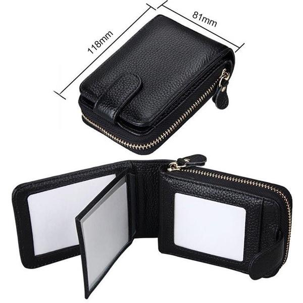 RFID skyddad plånbok med dragkedja Köp på 24.se
