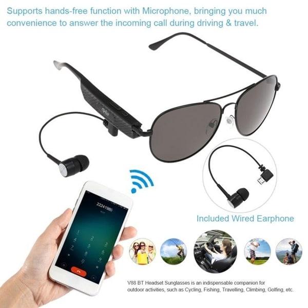 Solglasögon med hörlur och mikrofon Köp på 24.se