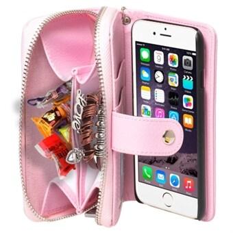 Plånbok fodral med rem iPhone 6 Plus   6S Plus - Rosa 0c676cb453c16
