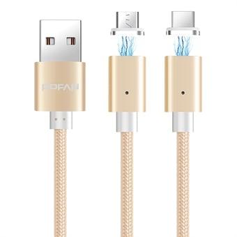 Floveme 2 kontakterna magnetiska kabel för iphone 7 6 5 5s & micro usb laddning kablar bil magnet laddare till samsung s7 s6 xiaomi