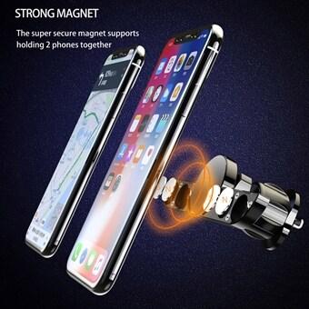 ROCK 10W Qi Trådlös Snabb Bil Laddare Metall Gravity Auto Lås Telefonhållare Ställ för Samsung iPhone X 8