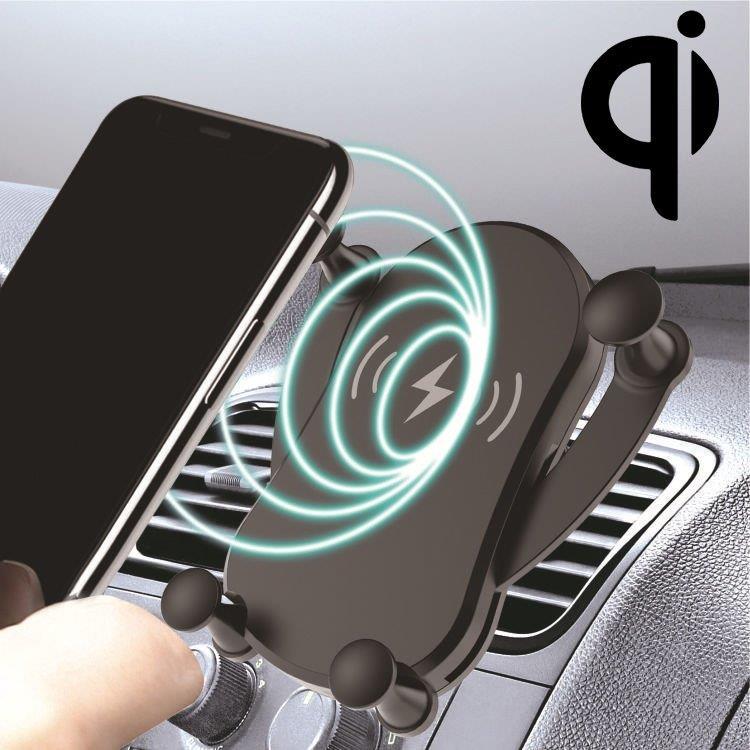 Mobilhållare billaddare snabb Qi laddare