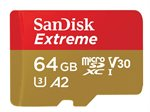 64GB SanDisk Extreme microSDXC Class 10 UHS-I Class 3 160/60MB/s