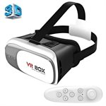 "VR BOX 2.0 3D Glasögon med Bluetooth & Remote - 3,5-6"" skärm"