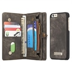 CaseMe Leather Billfold iPhone 6 Plus & 6s Plus - Magnetfunktion, 10 kort, myntfack